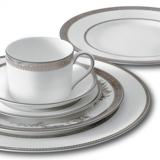 Lace platinum dinnerware
