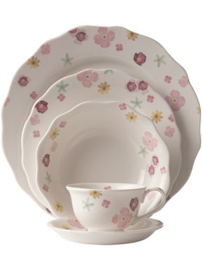 Linea Watercolour dinnerware range
