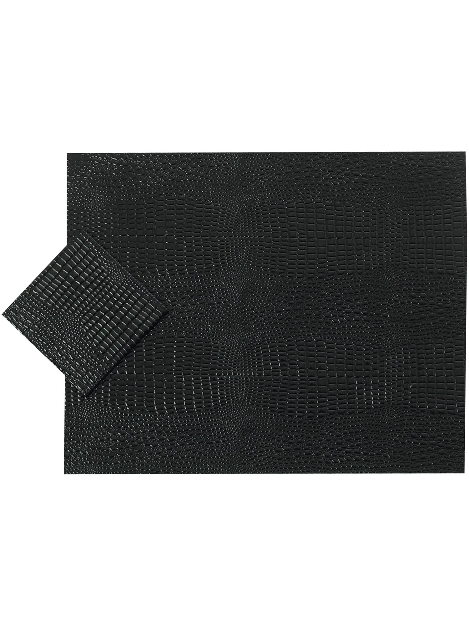 Mock croc black tablemat range