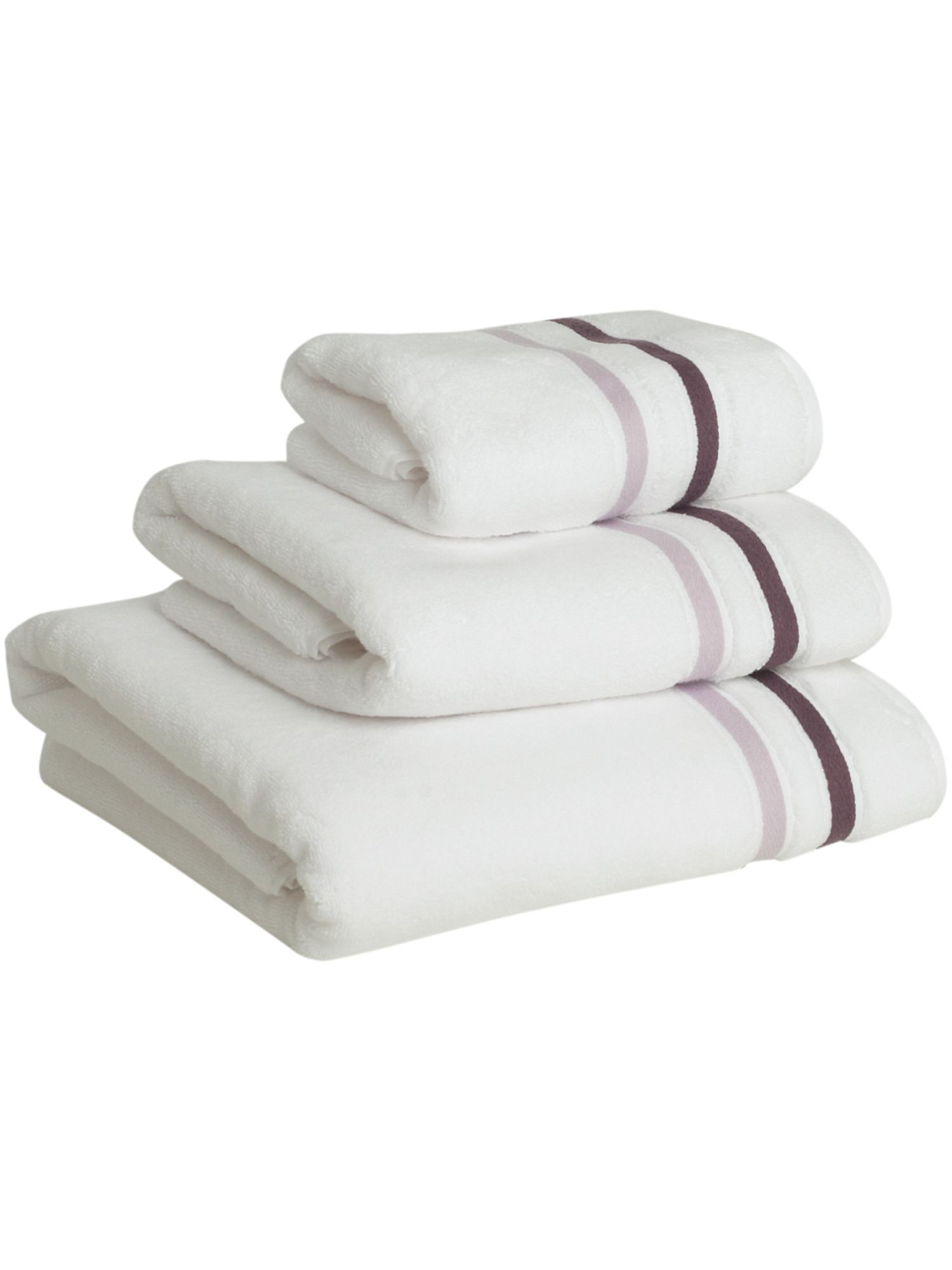 Weft insert towels in heather