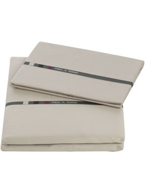 Pied a Terre Cotton sateen bed linen in warm grey