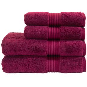 Christy Supreme towels in raspberry