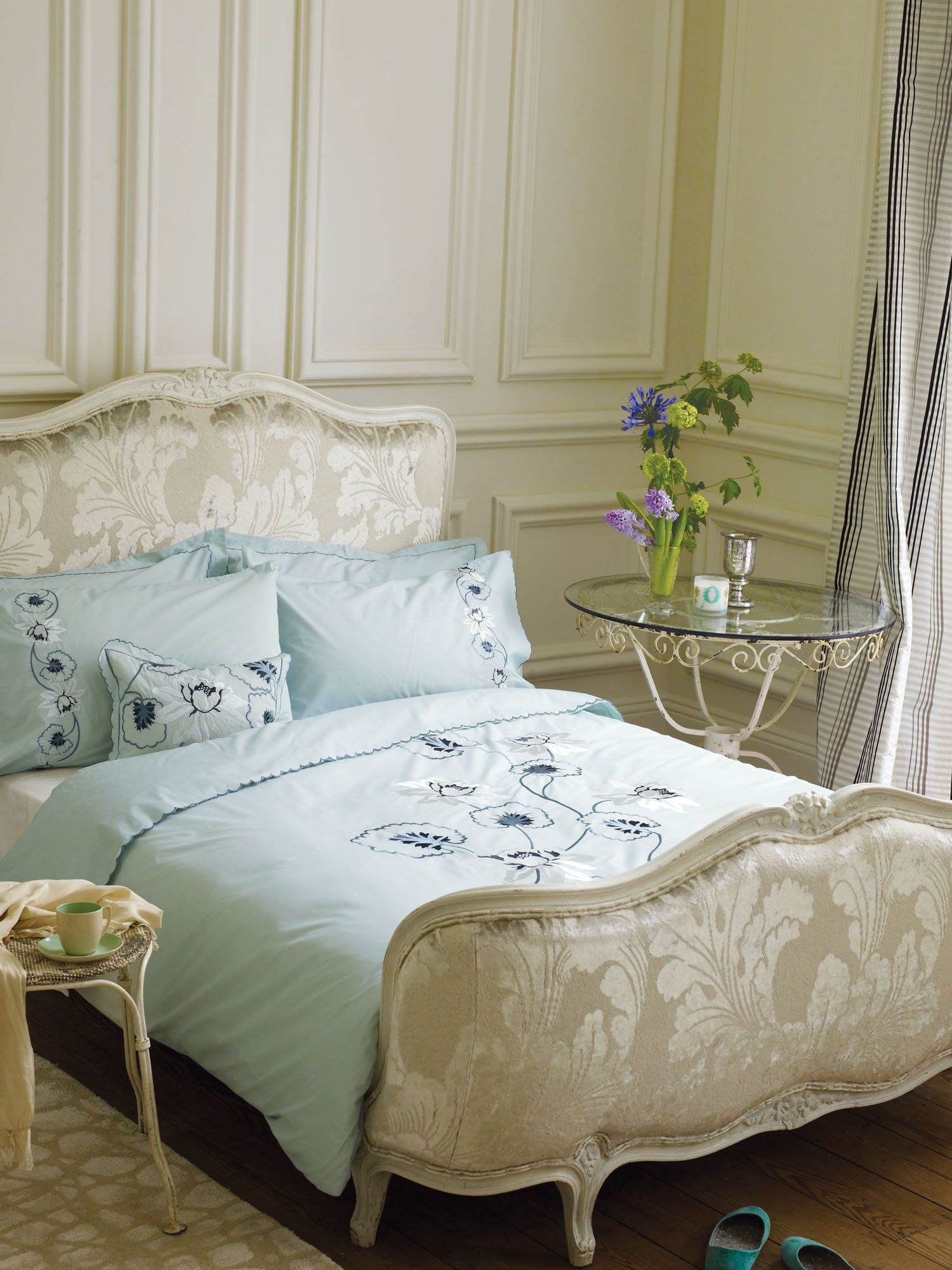 Baudard bed linen range in aqua