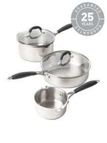 Cook three piece saucepan set