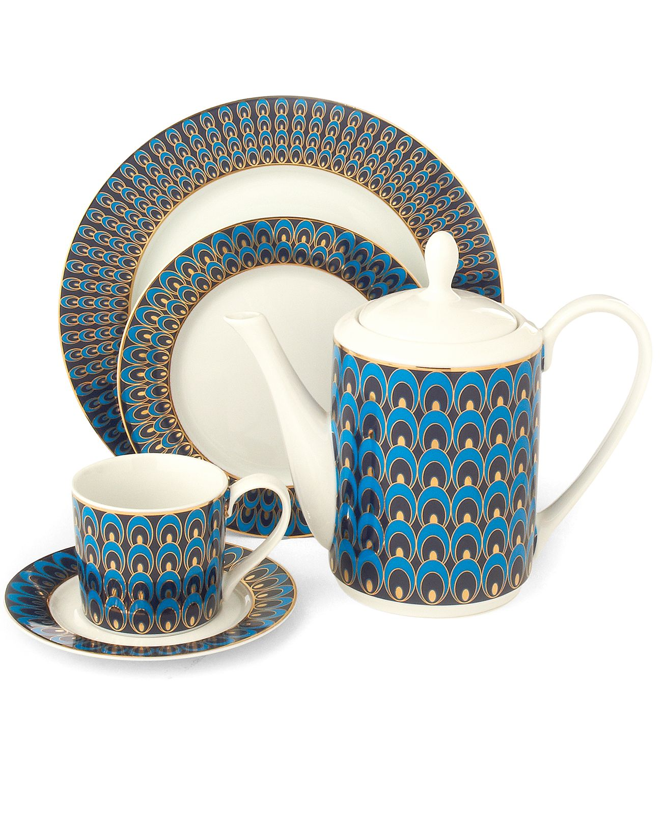 Peacock dinnerware