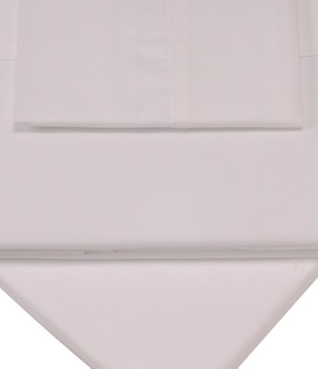 Sanderson Pima white single fitted sheet