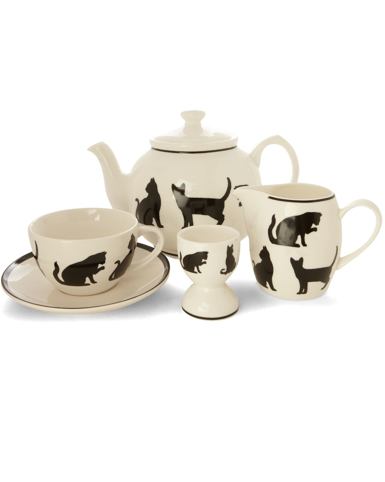 Silhouette cat tea range