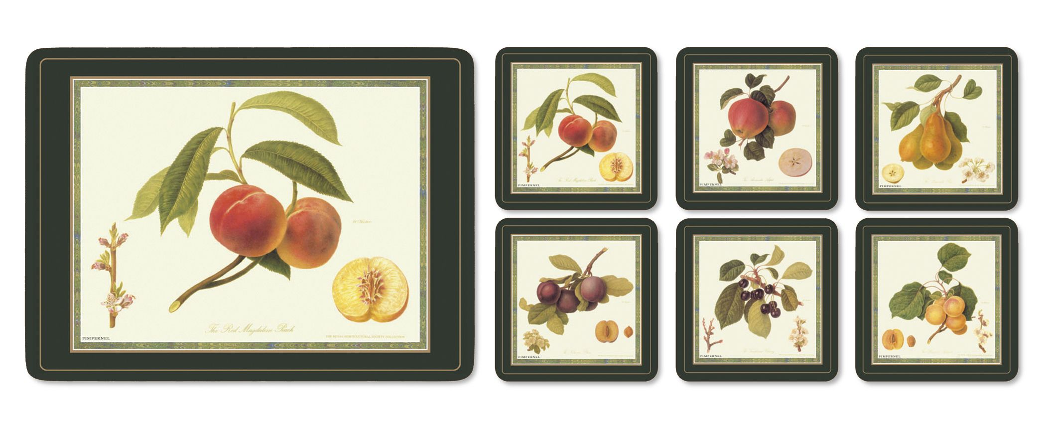 Hooker fruit tablemats