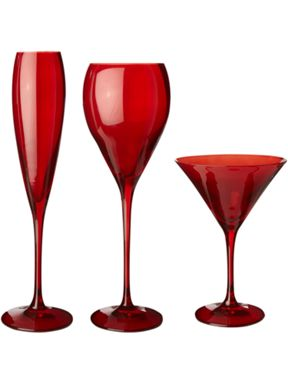 Linea Olga red glass range