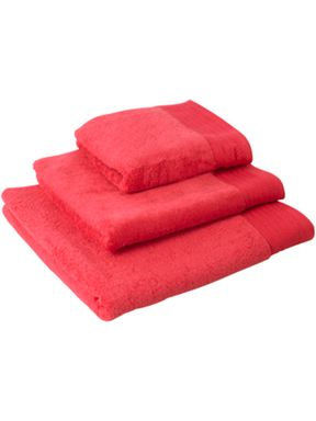 Linea Passion towels in coral