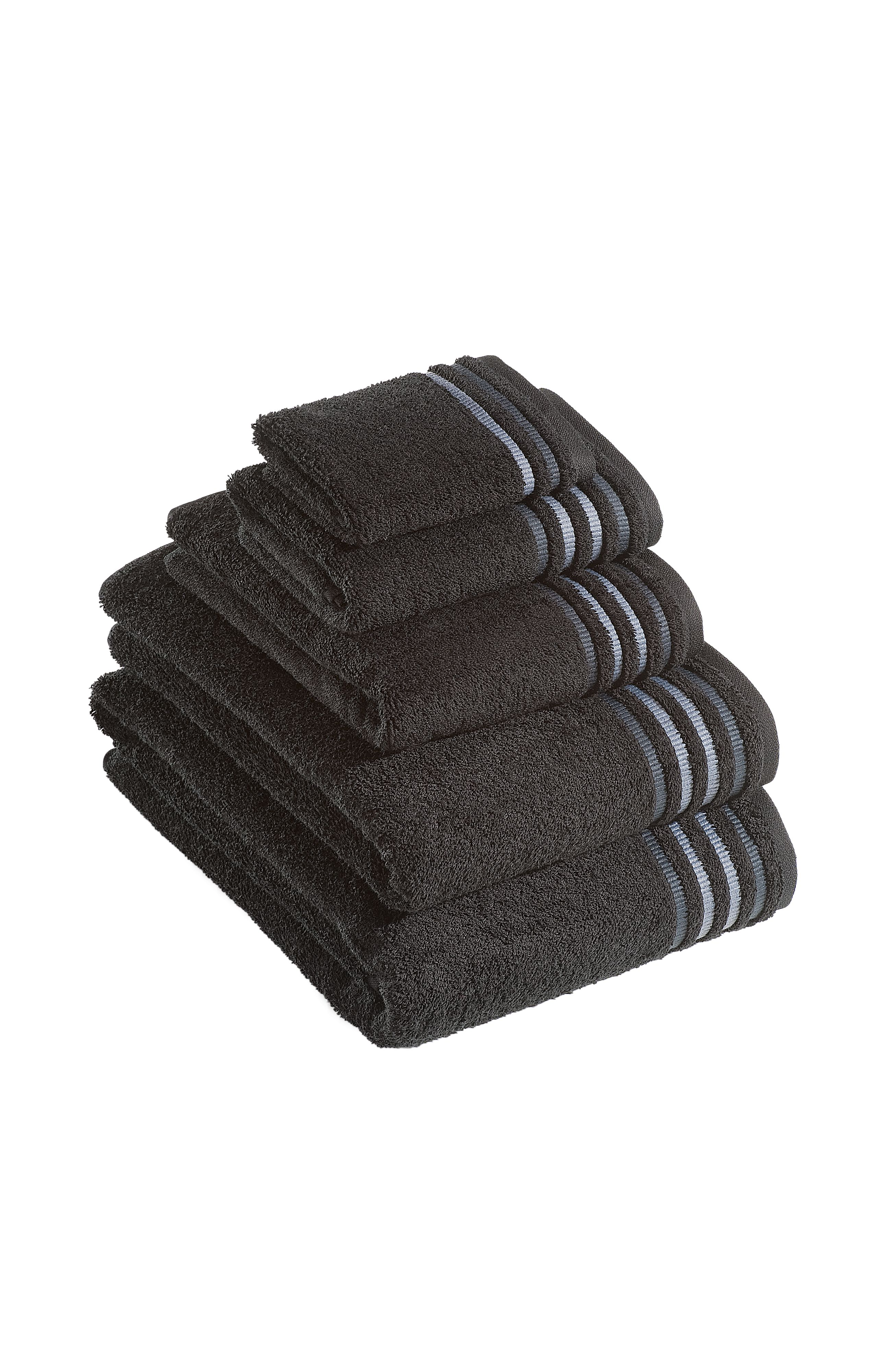 De Lux towel range in black