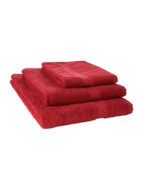 Linea Supima towels in burgundy