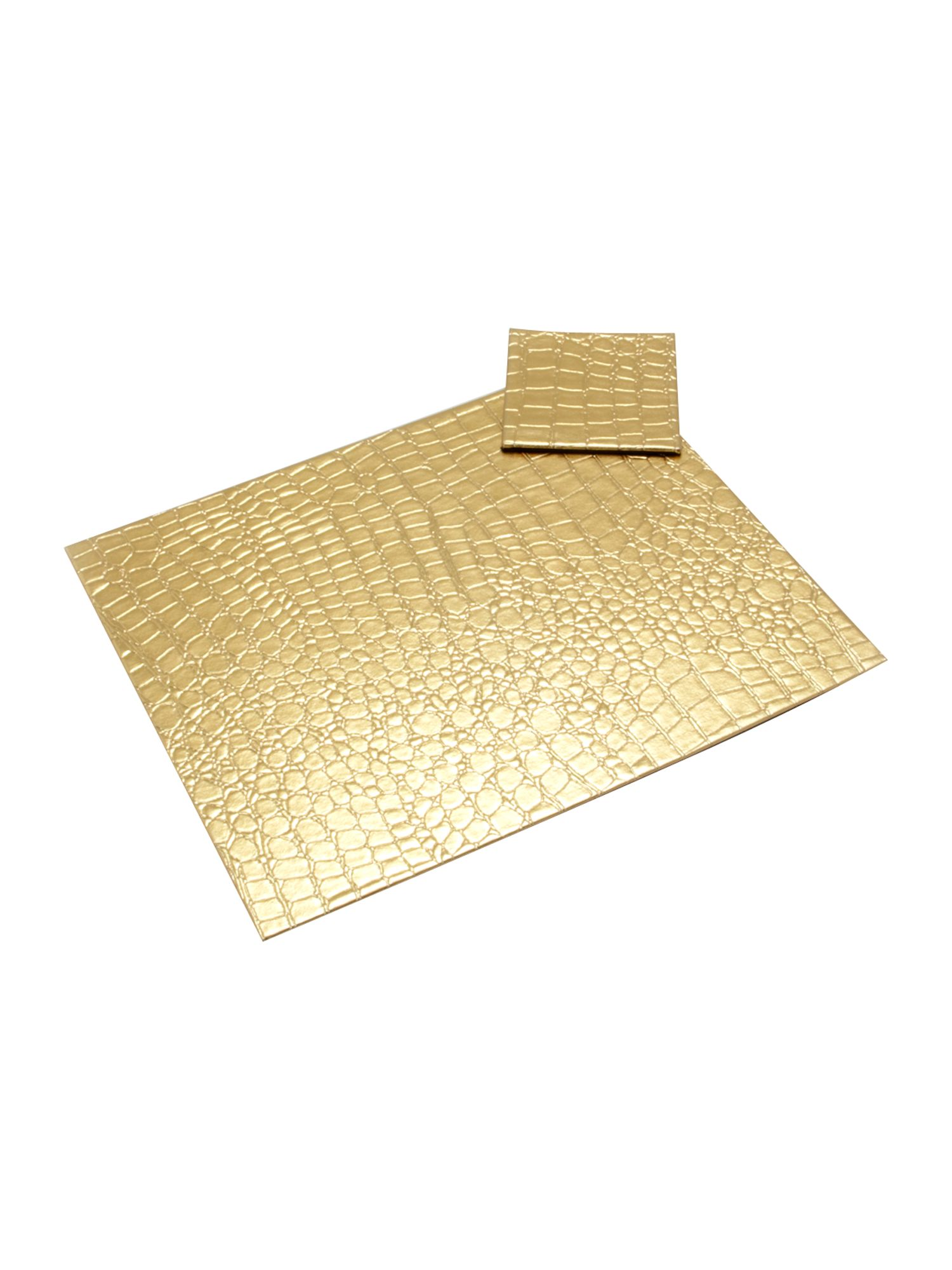 Gold mock croc tablemat range