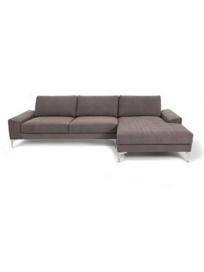 Linea blake 3 seater brown chaise end sofa house of fraser for Brown leather chaise end sofa