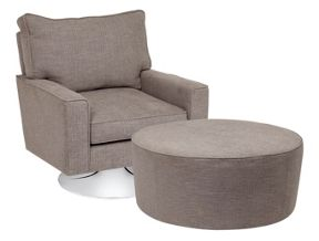 Casa Couture Pelham swivel armchair and stool