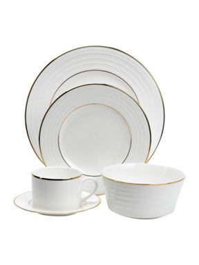Linea Soho gold dinnerware