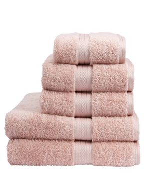 Christy Renaissance III towels in pale rose