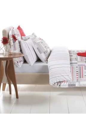 Bed by Conran Ticking strip bed linen