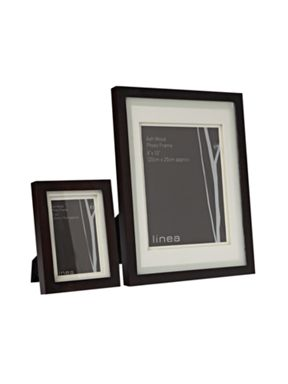 Linea Walnut photo frames