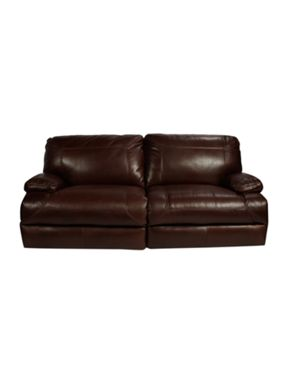 Linea Colby static leather sofa range