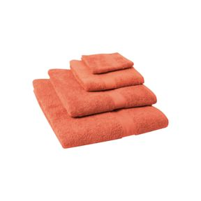 Linea Supima towels in Coral