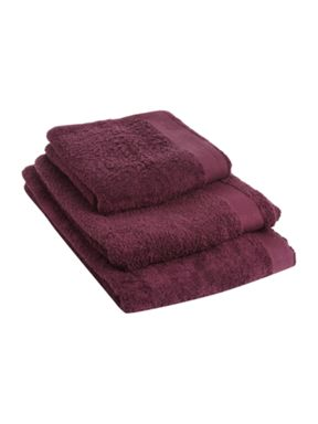 Linea Supima towels in Damson
