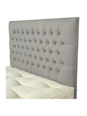 Pied a Terre Beatrice buttoned headboard light grey