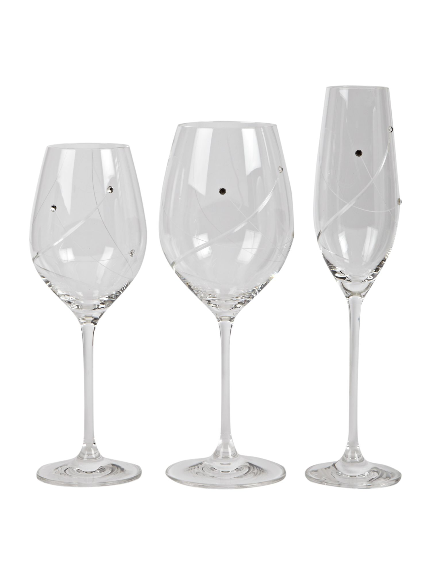Angelina Swarovski elements glassware