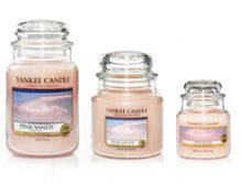 Pink sands housewarmer candles