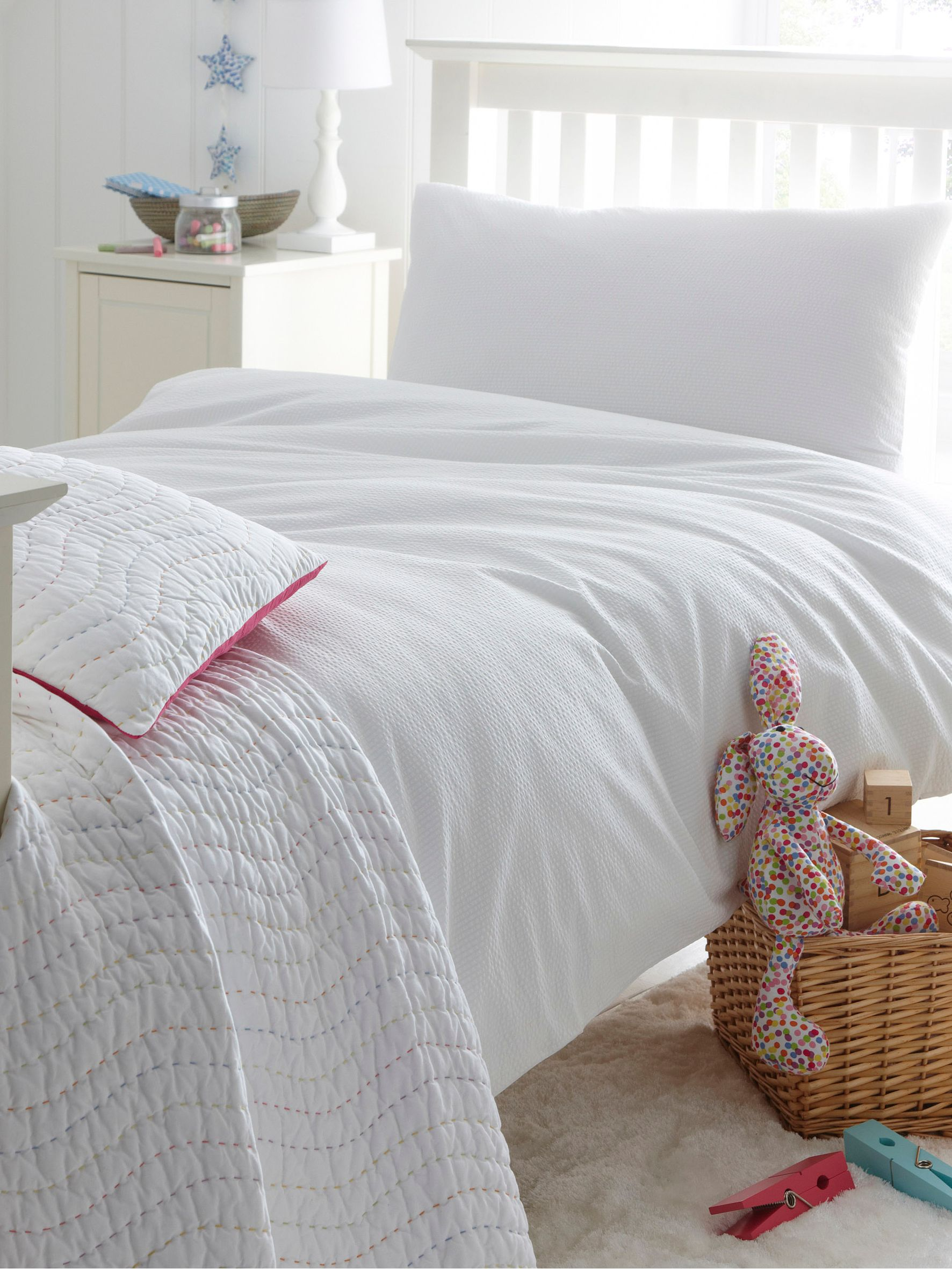 Seersucker double duvet cover
