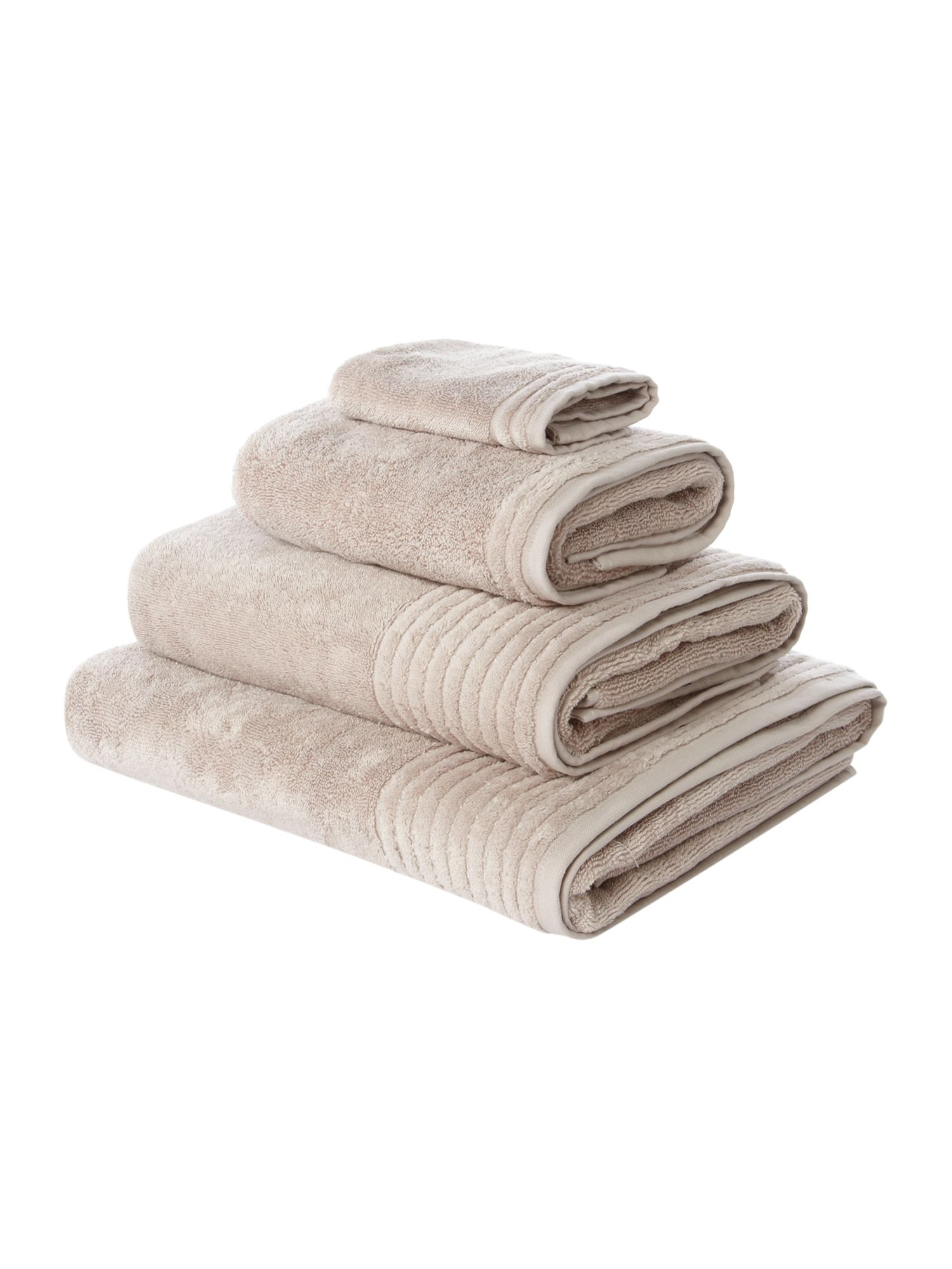 Spa supima cotton towels in oyster