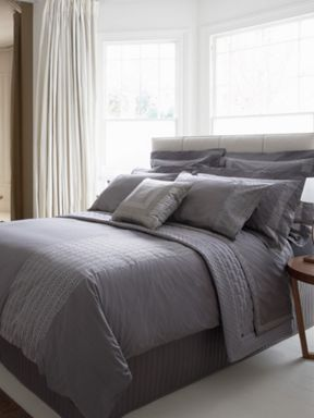 Christy Park Lane bed linen charcoal