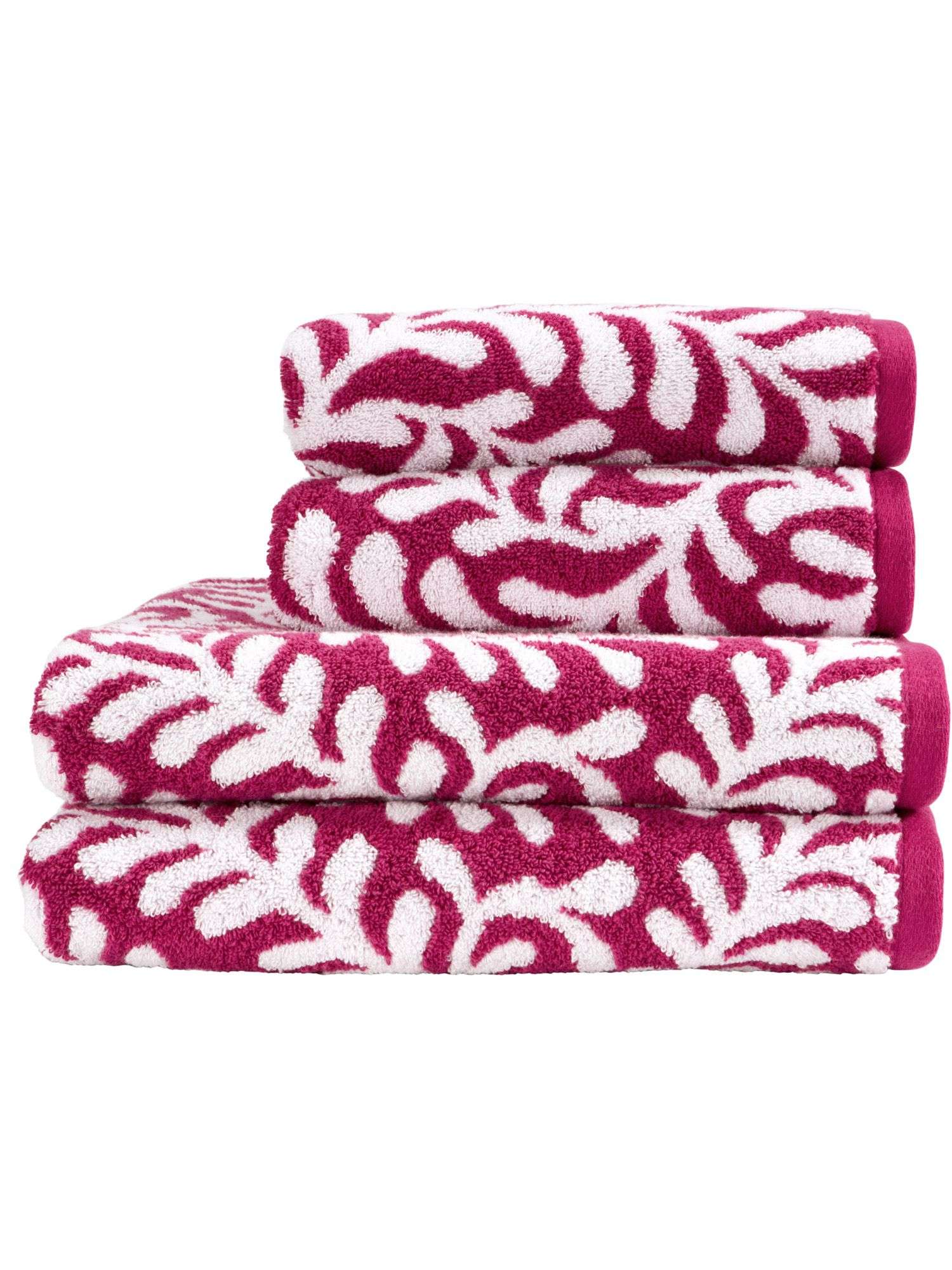 Botanical towel range in summer pudding