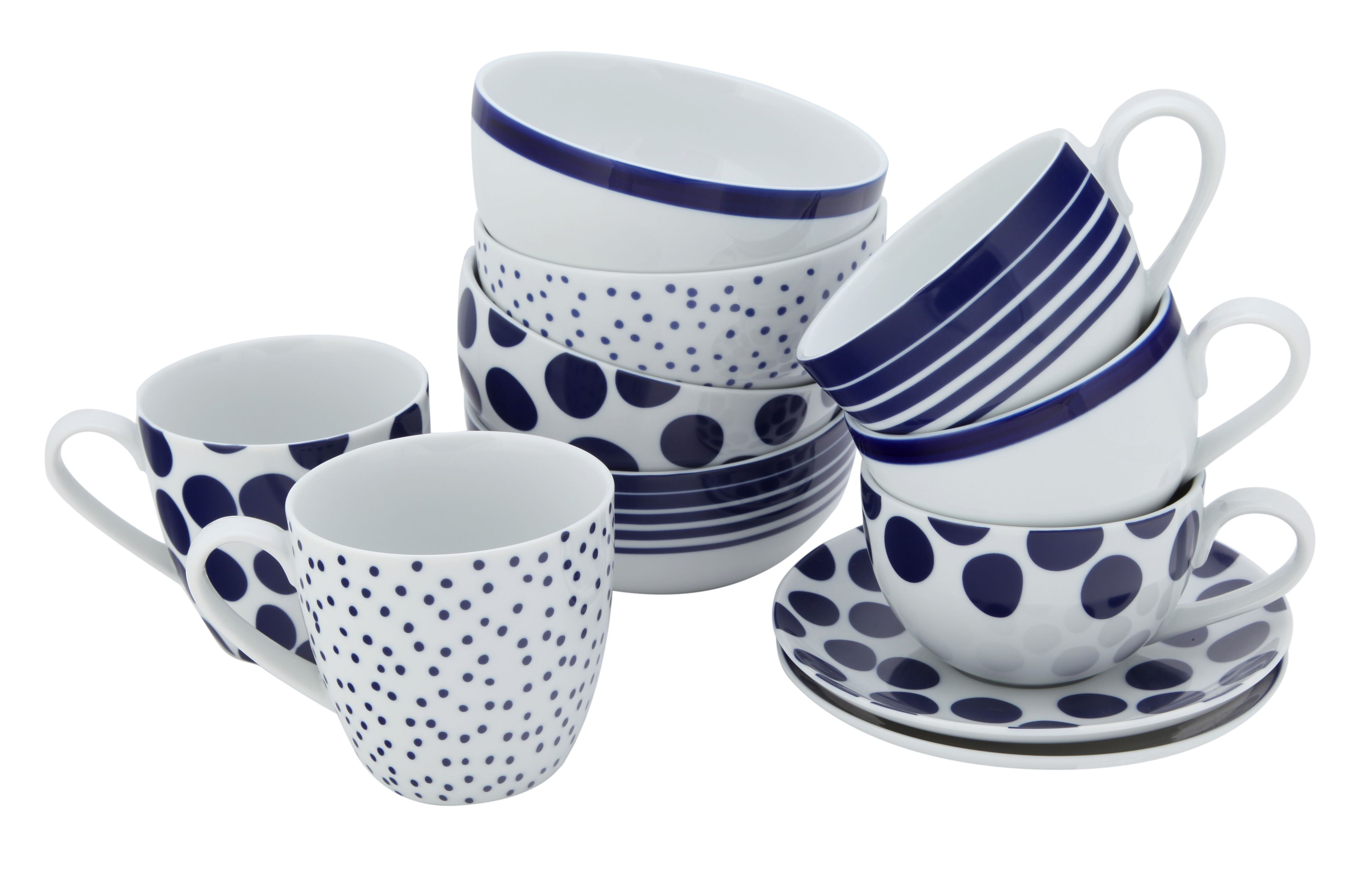 Pacific dotty stripe dinnerware