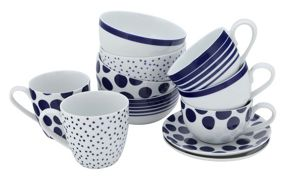 Linea Pacific dotty stripe dinnerware