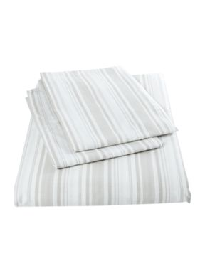 Shabby Chic Striped bedset in grey