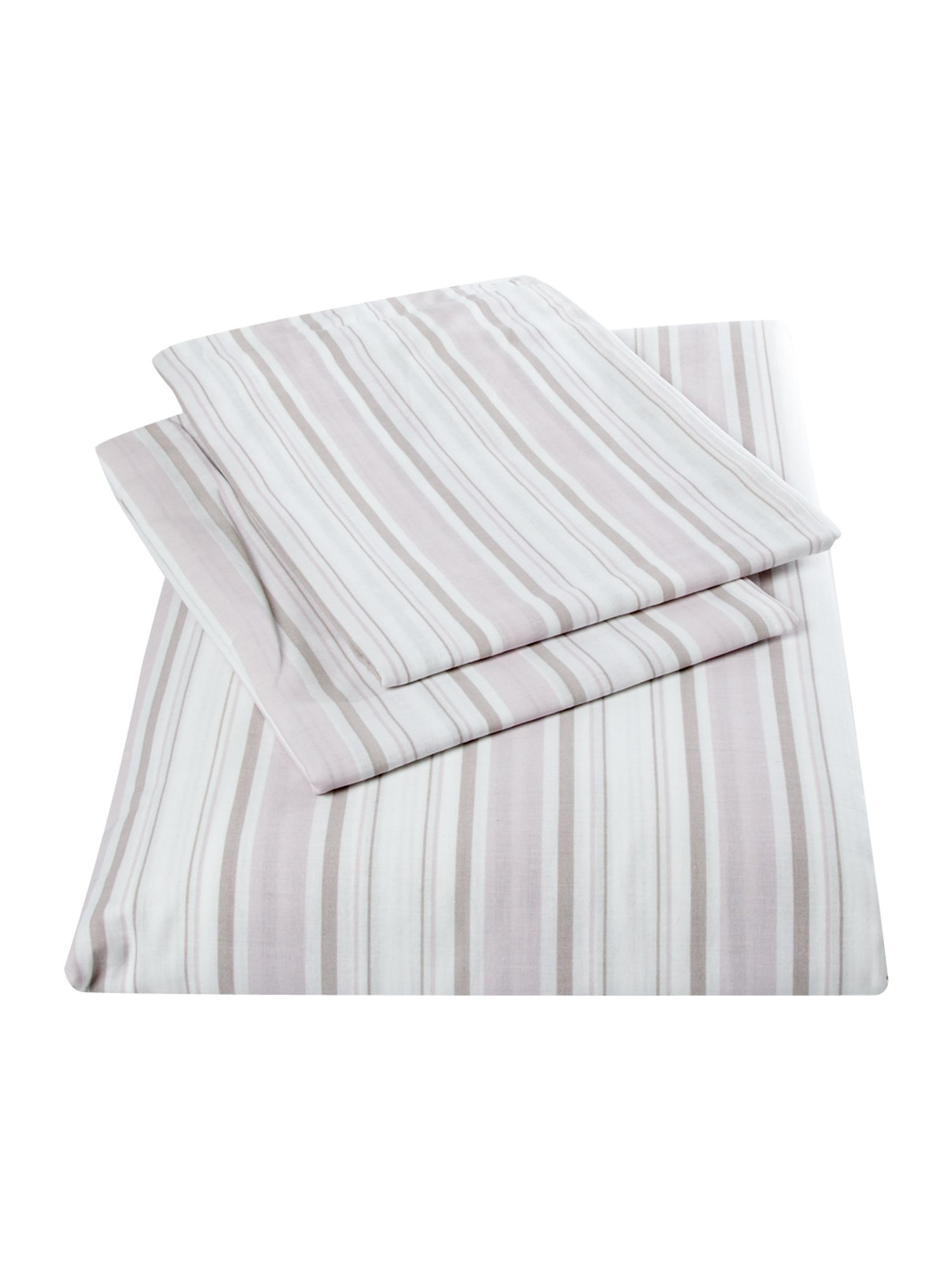 Striped bedset in lilac