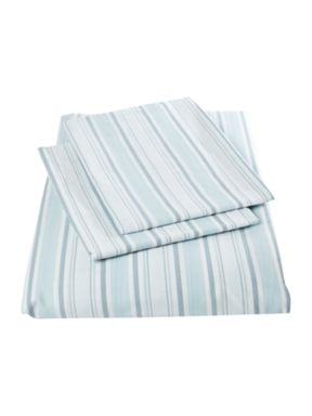 Shabby Chic Striped bedset in blue