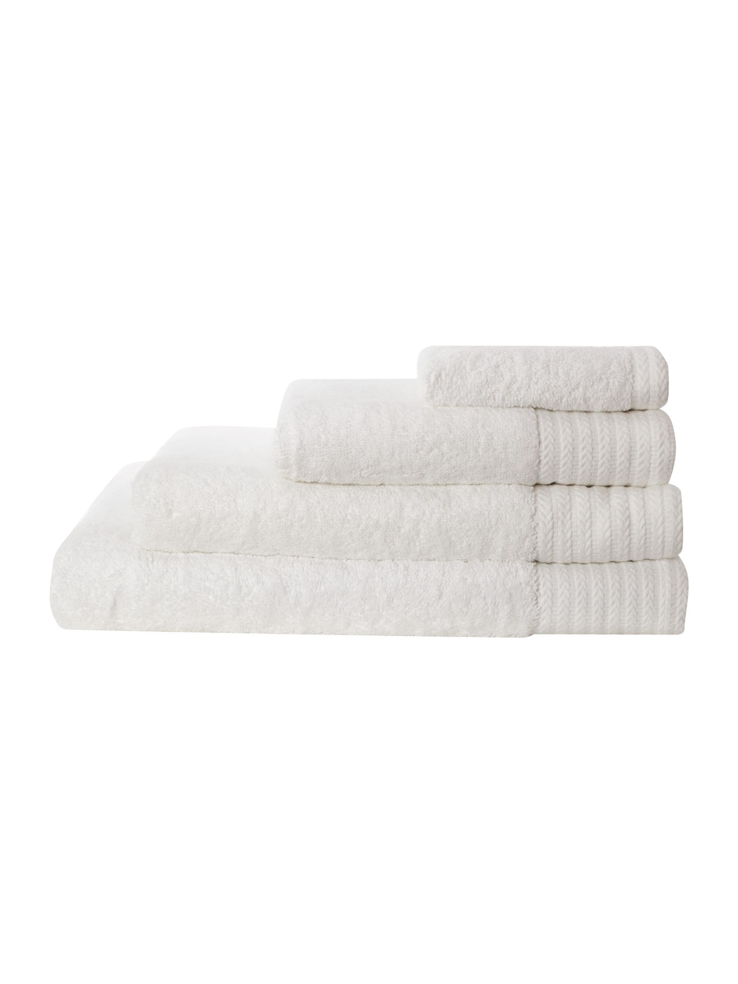 Luxury 700 gsm cotton towels in white