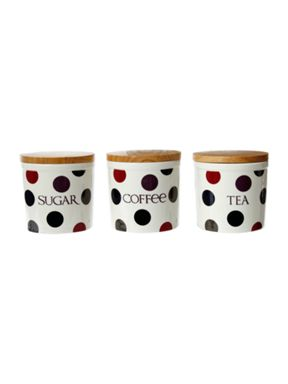 Linea Dotty bloomsbury canisters