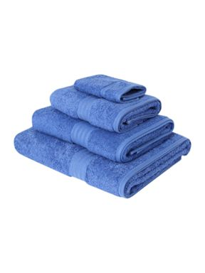 Linea Luxe Egyptian cotton towels in blueberry