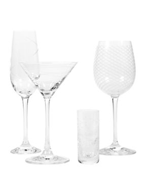 Pied a Terre Etched glassware