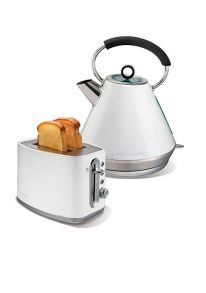 White toaster and kettle set