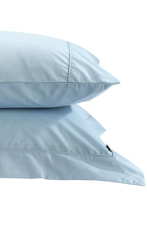 Plain Dye King fitted Sheet Sky Blue