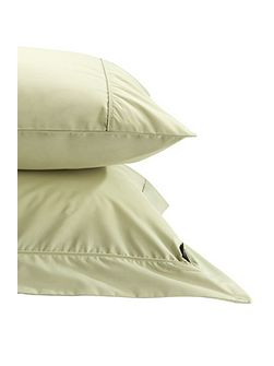 Plain Dye Double fitted Sheet Soft Green