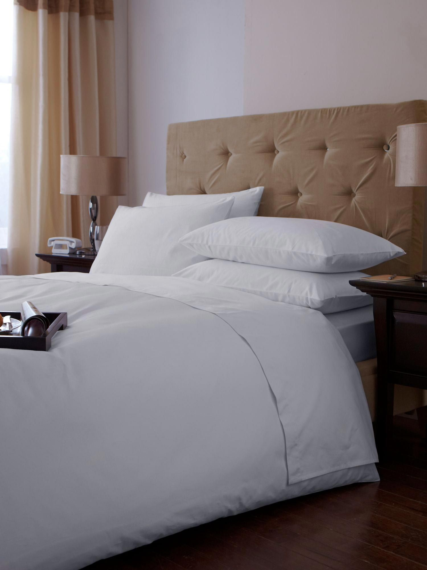 500 thread super king size duvet cover set white