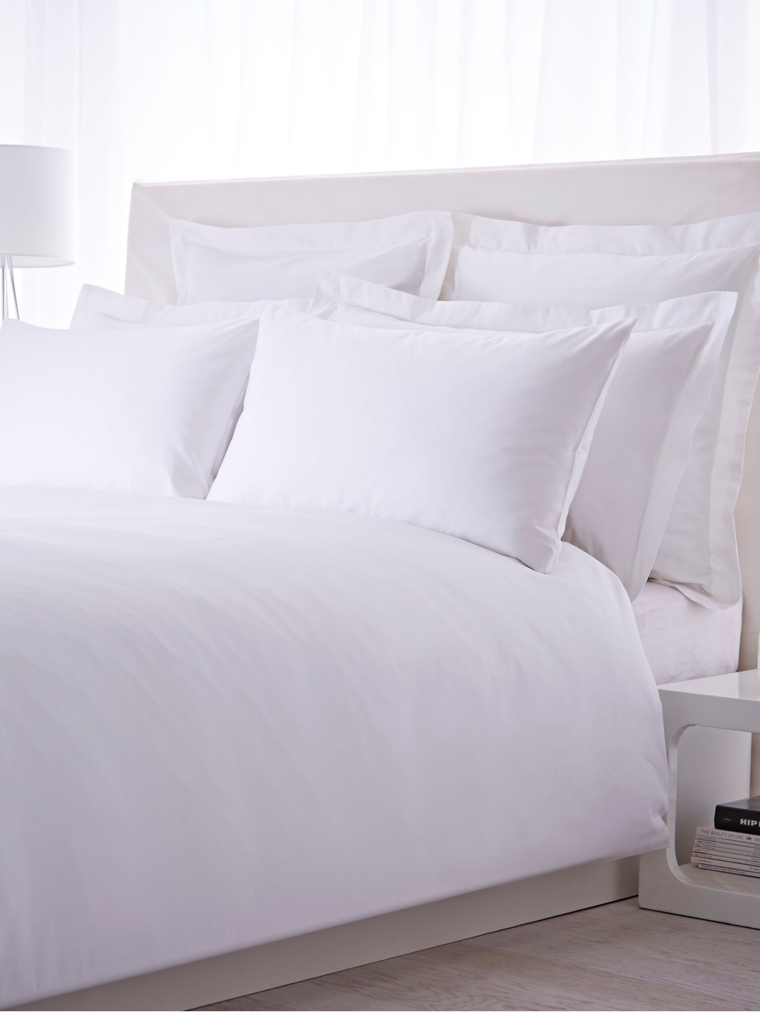 500 thread count double flat sheet pair white
