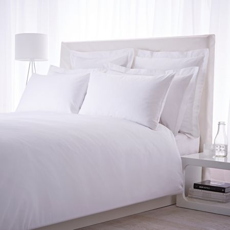 Luxury Hotel Collection 500 thread count single flat sheet pair white