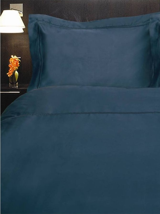 Baretta Stitch super king flat sheet nightsky