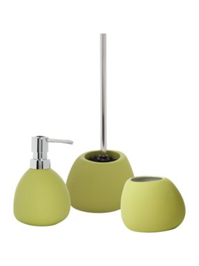 Linea Soft touch bathroom accessories in lime